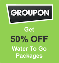 Groupon 50% Off Offer on Water To Go Packages