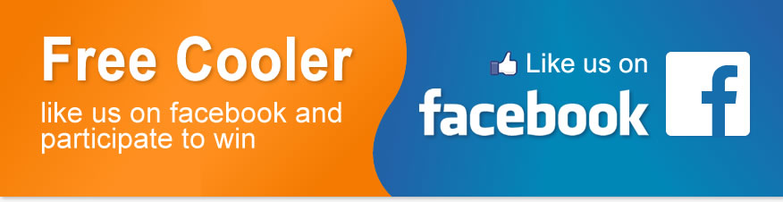 Win free water for a year and Hot/Cold Cooler, Like us on Facebok